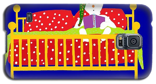 Galaxy S5 Case featuring the digital art Welsh Snowman Bedtime  by Barbara Moignard
