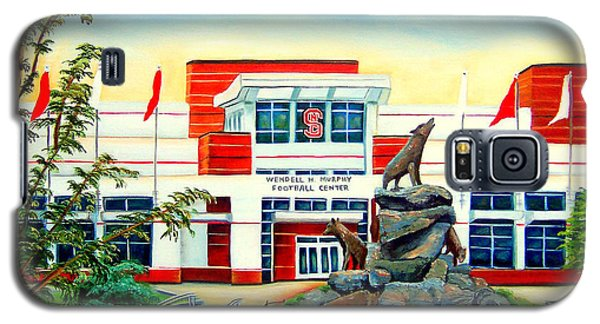 Galaxy S5 Case featuring the painting Wendell H. Murphy Football Center by Shelia Kempf