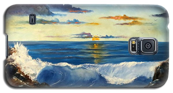 Galaxy S5 Case featuring the painting West Coast Sunset by Lee Piper