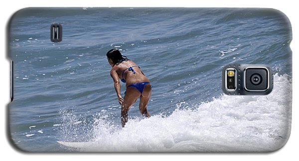 Galaxy S5 Case featuring the photograph West Coast Surfer Girl by Duncan Selby