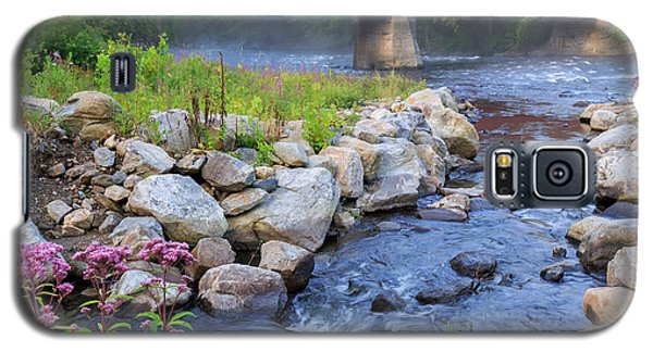 West Cornwall Covered Bridge Square Galaxy S5 Case