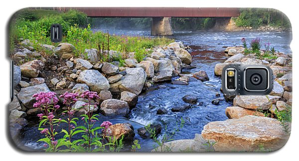 Galaxy S5 Case featuring the photograph West Cornwall Covered Bridge Summer by Bill Wakeley