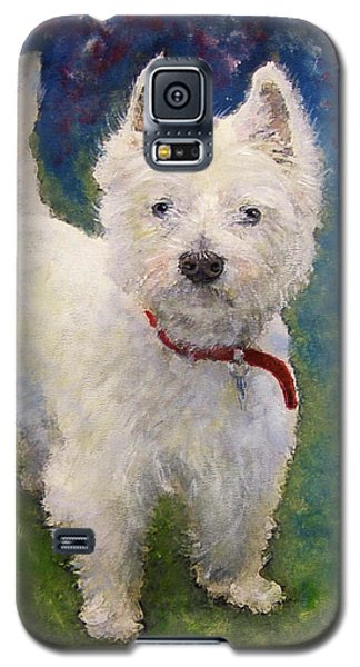 Galaxy S5 Case featuring the painting West Highland Terrier Holly by Richard James Digance