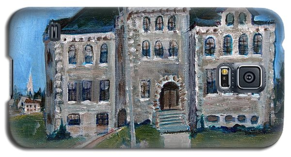 Galaxy S5 Case featuring the painting West Hill School In Canajoharie New York by Betty Pieper
