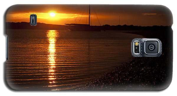 Galaxy S5 Case featuring the photograph West Mersea Sunset by David Isaacson