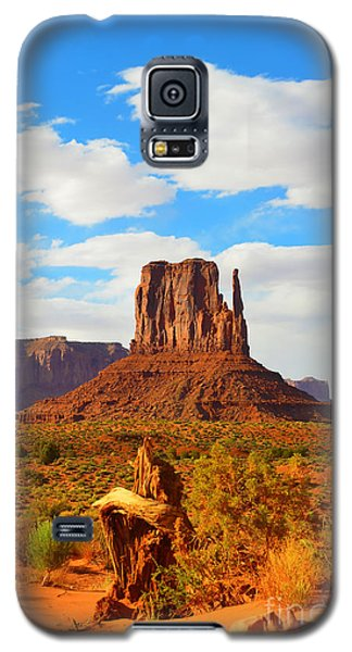 West Mitten At Monument Valley Galaxy S5 Case by Debra Thompson