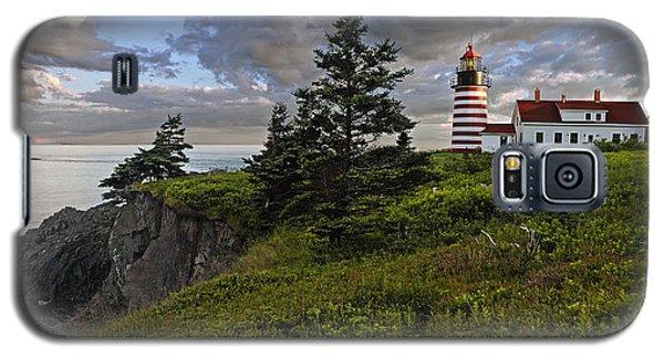 West Quoddy Head Lighthouse Panorama Galaxy S5 Case by Marty Saccone