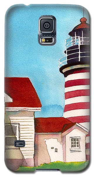 West Quoddy Light House Galaxy S5 Case by Nan Wright