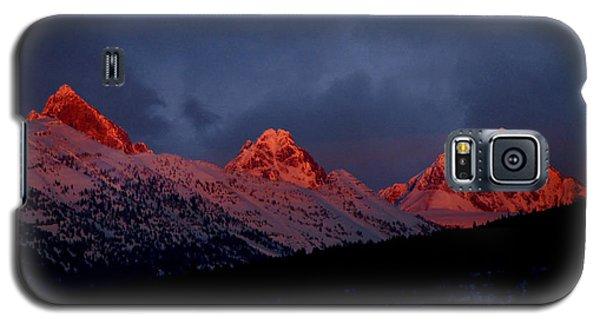 Galaxy S5 Case featuring the photograph West Side Teton Sunset by Raymond Salani III