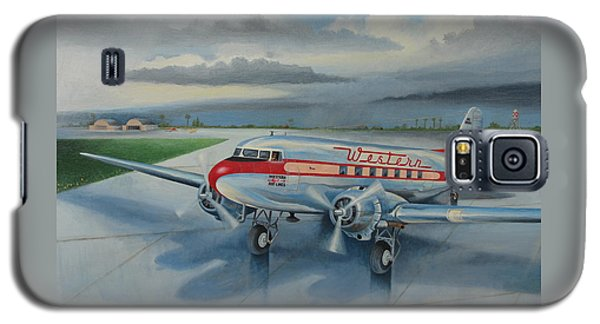 Western Airlines Dc-3 Galaxy S5 Case by Stuart Swartz