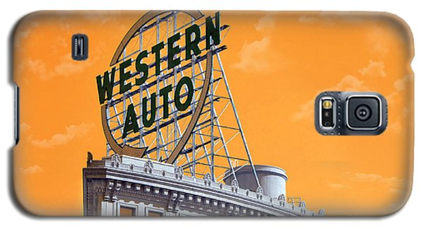 Western Auto Sign Artistic Sky Galaxy S5 Case