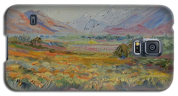 Galaxy S5 Case featuring the painting Western Cape Mountains by Thomas Bertram POOLE