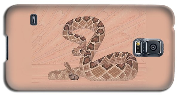 Brown Snake Galaxy S5 Case - Western Diamondback Rattlesnake by Nathan Marcy