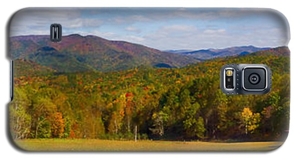 Western North Carolina Horses And Mountains Panorama Galaxy S5 Case