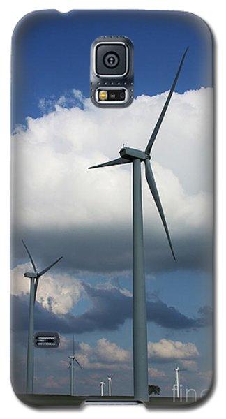 Galaxy S5 Case featuring the photograph Western Oklahoma Wind Farm by Jim McCain