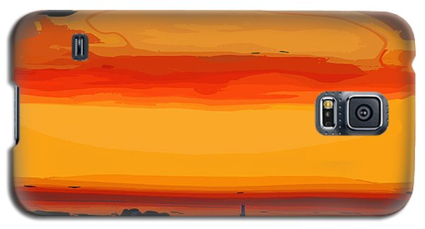 Galaxy S5 Case featuring the digital art Western Sky by Kirt Tisdale
