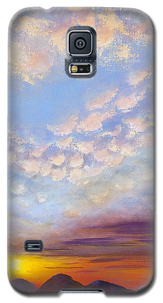 Galaxy S5 Case featuring the painting Western Sunset by Margaret Bobb