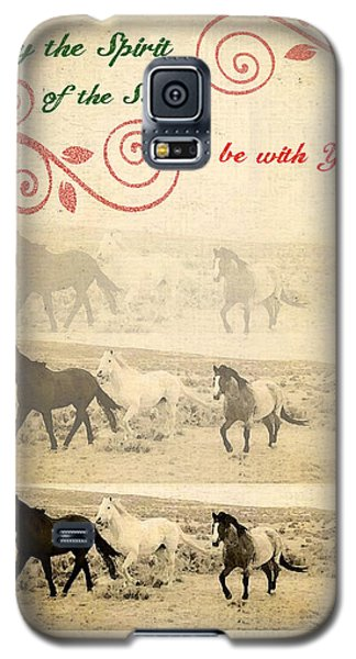 Western Themed Christmas Card Wyoming Spirit Galaxy S5 Case