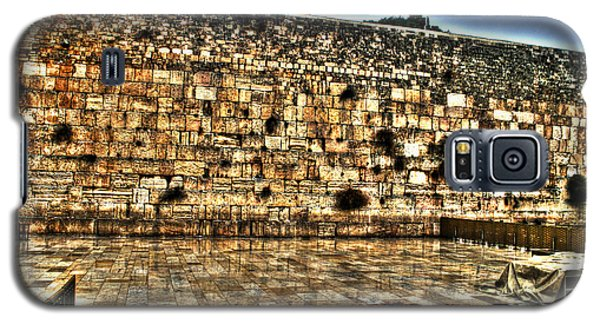 Galaxy S5 Case featuring the photograph Western Wall In Israel by Doc Braham