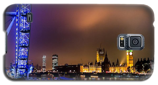 Westminster And Eye Night Glow Galaxy S5 Case by Matt Malloy