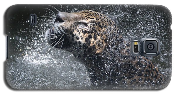 Galaxy S5 Case featuring the pyrography Wet Jaguar  by Shoal Hollingsworth