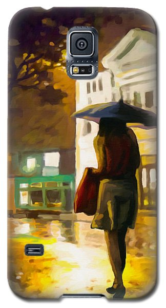 Galaxy S5 Case featuring the painting Wet Night by Anthony Mwangi