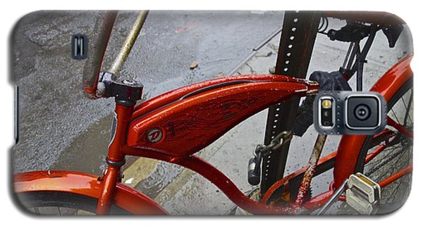 Wet Orange Bike   Nyc Galaxy S5 Case