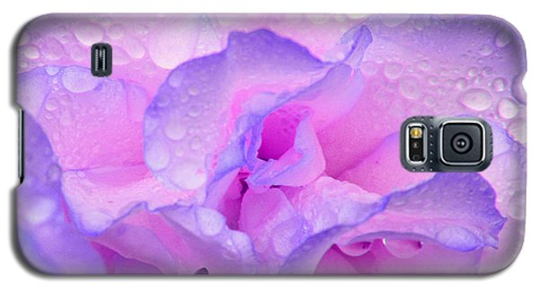 Wet Rose In Pink And Violet Galaxy S5 Case
