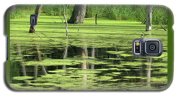 Galaxy S5 Case featuring the photograph Wetland Reflection by Ann Horn