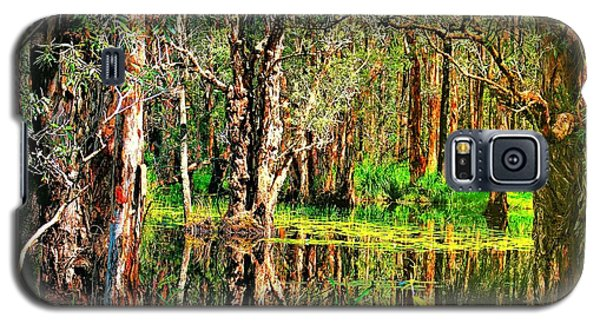 Galaxy S5 Case featuring the photograph Wetland Reflections by Wallaroo Images