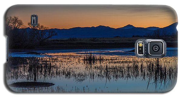 Galaxy S5 Case featuring the photograph Wetland Twilight by Beverly Parks