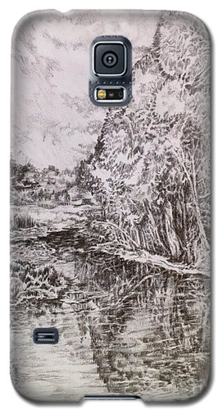 Galaxy S5 Case featuring the drawing Wetlands by Iya Carson