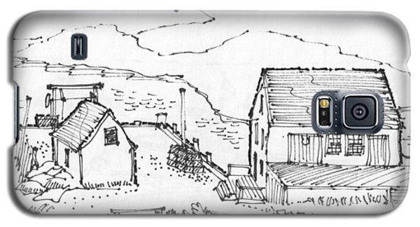 Wharf On Monhegan Island 1993 Galaxy S5 Case