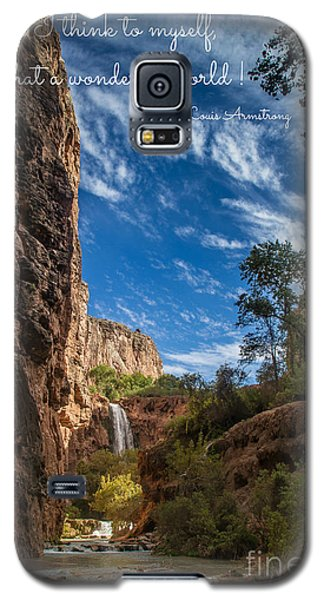 What A Wonderful World Galaxy S5 Case by Jim McCain