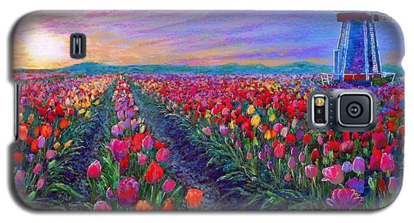 Impressionism Galaxy S5 Case -  Tulip Fields, What Dreams May Come by Jane Small
