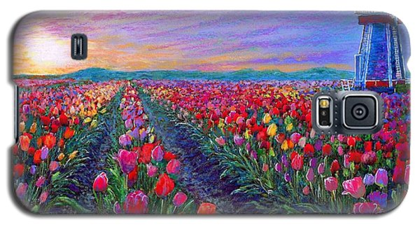 Tulip Galaxy S5 Case -  Tulip Fields, What Dreams May Come by Jane Small