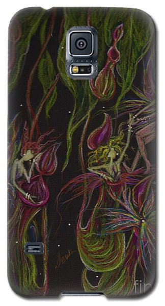Galaxy S5 Case featuring the drawing What Happened In Borneo Stays In  Borneo by Dawn Fairies