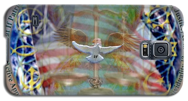 Galaxy S5 Case featuring the digital art What If Balance Was Patriotism Lrg by Christopher Pringer