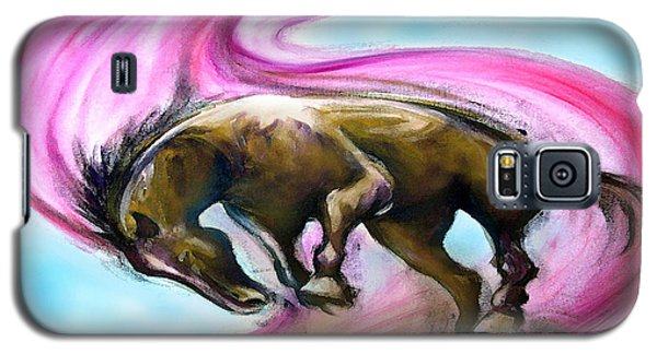 Galaxy S5 Case featuring the painting What If... by Kevin Middleton