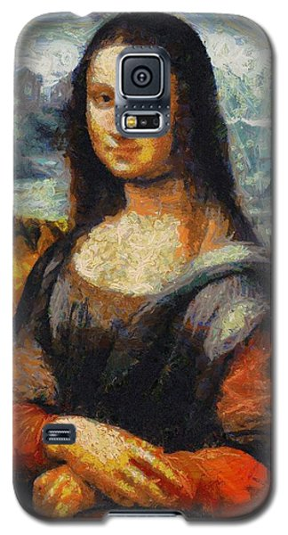 Galaxy S5 Case featuring the painting What If Vincent Van Gogh Had Painted Mona Lisa? by Kai Saarto