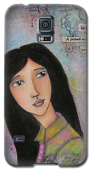 Galaxy S5 Case featuring the painting What Is A Friend ? by Nicole Nadeau
