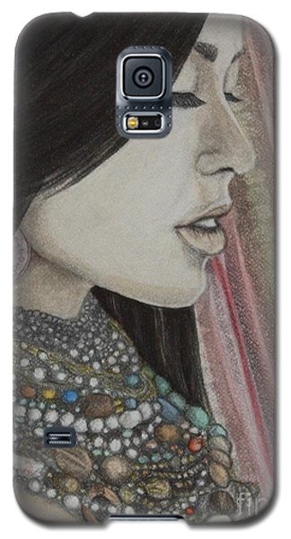 Galaxy S5 Case featuring the mixed media What Is Beauty by Malinda  Prudhomme