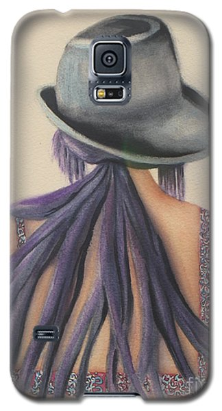 Galaxy S5 Case featuring the painting What Lies Ahead Series After The Loss Of My Husband  by Chrisann Ellis
