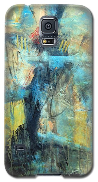 Galaxy S5 Case featuring the painting What Lies Beneath by Ron Stephens