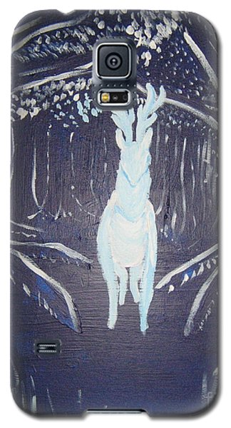 Galaxy S5 Case featuring the painting What Walks These Woods by Wendy Coulson
