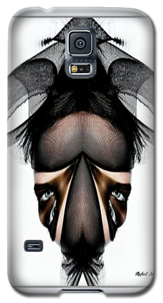 Galaxy S5 Case featuring the painting What You See Is What You Get? by Rafael Salazar