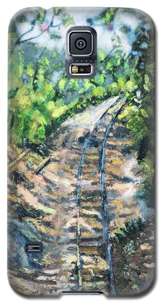 Galaxy S5 Case featuring the painting What's Around The Bend? by Michael Daniels