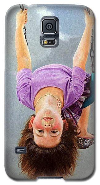 Galaxy S5 Case featuring the painting What's Up? by Glenn Beasley