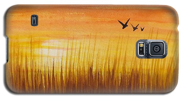 Wheatfield At Sunset Galaxy S5 Case