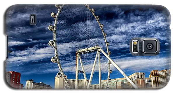 Galaxy S5 Case featuring the photograph Wheel In The Sky Las Vegas by Michael Rogers